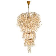 CAMPOBASSO 33-LIGHT CHANDELIER, Gold, medium