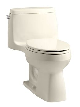 SANTA ROSA™ COMFORT HEIGHT® ONE-PIECE COMPACT ELONGATED 1.28 GPF TOILET WITH AQUAPISTON® FLUSHING TECHNOLOGY, Almond, large