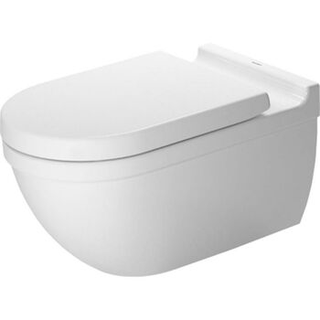 STARCK 3 WALL MOUNTED TOILET (BOWL ONLY), White, large