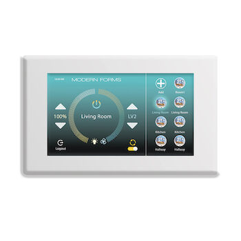 WIFI TOUCH PANEL CEILING FAN WALL CONTROL WITH MOUNTING BRACKET, White, large