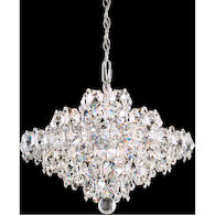 BARONET 8-LIGHT CHANDELIER WITH SPECTRA CRYSTAL, Clear, medium