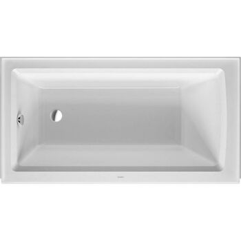 ARCHITEC RECTANGLE ACRYLIC BATHTUB WITH 20.5 INCH PANEL HEIGHT, White, large