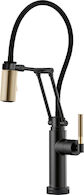 LITZE SMARTTOUCH ARTICULATING FAUCET WITH KNURLED HANDLE, Matte Black, medium
