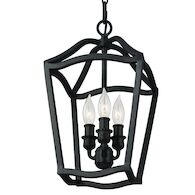 YARMOUTH 3-LIGHT FOYER LIGHT FIXTURE, Antique Forged Iron, medium
