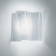 LOGICO SINGLE MICRO WALL LAMP, Milky White, medium