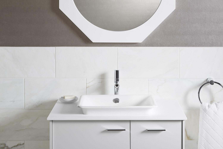 Kohler Iron Plains Wading Pool Rectangular Bathroom Sink With White Painted Underside K 5400 W 0 Robinson
