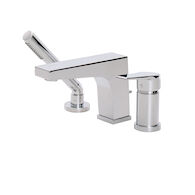 3-PIECE DECKMOUNT TUB FAUCET WITH HANDSHOWER, 17013, Polished Chrome, medium