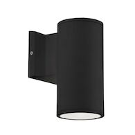 NORDIC 7-INCH LED OUTDOOR WALL SCONCE LIGHT, Black, medium