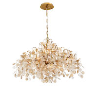 CAMPOBASSO 8-LIGHT CHANDELIER, Gold, medium