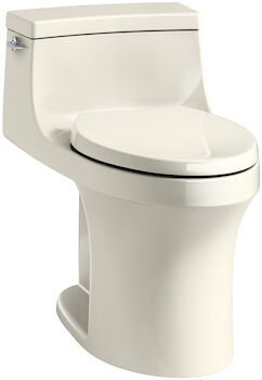 SAN SOUCI® COMFORT HEIGHT® ONE-PIECE COMPACT ELONGATED 1.28 GPF TOILET WITH AQUAPISTON® FLUSHING TECHNOLOGY, Almond, large