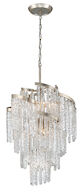MONT BLANC 9-LIGHT CHANDELIER, Modern Silver Leaf, medium