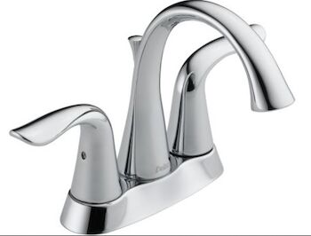 LAHARA TWO HANDLE CENTERSET CERAMIC VALVE LAVATORY FAUCET, Chrome, large