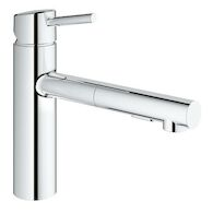 CONCETTO PULL OUT KITCHEN FAUCET, MEDIUM SPOUT, StarLight Chrome, medium