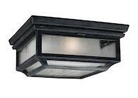 SHEPHERD 2-LIGHT OUTDOOR FLUSH MOUNT LIGHT, Dark Weathered Zinc, medium