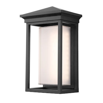OVERBROOK 3000K LED OUTDOOR WALL LIGHT, Black, large