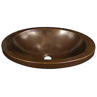 HIBISCUS 21-INCH ROUND DROP IN BATHROOM SINK, CPS43, Antique Copper, medium