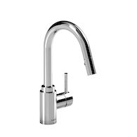 KITCHEN FAUCET WITH 2-JET PULL DOWN SPRAY, Chrome, medium